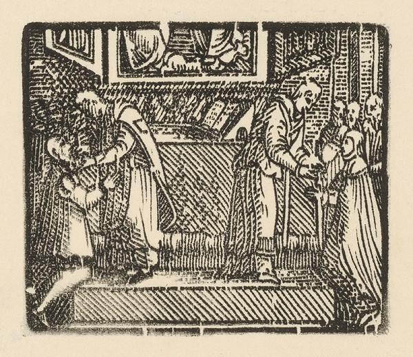 Moravský grafik z polovice 16. storočia – Prijímanie
