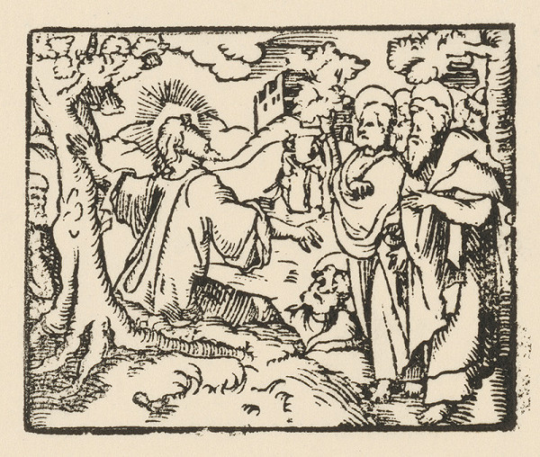 Nemecký grafik zo začiatku 17. storočia - Predpoveď skazy Jeruzaléma