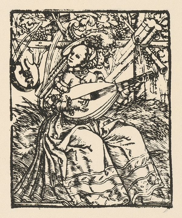 Nemecký grafik z polovice 16. storočia – Dáma s lutnou