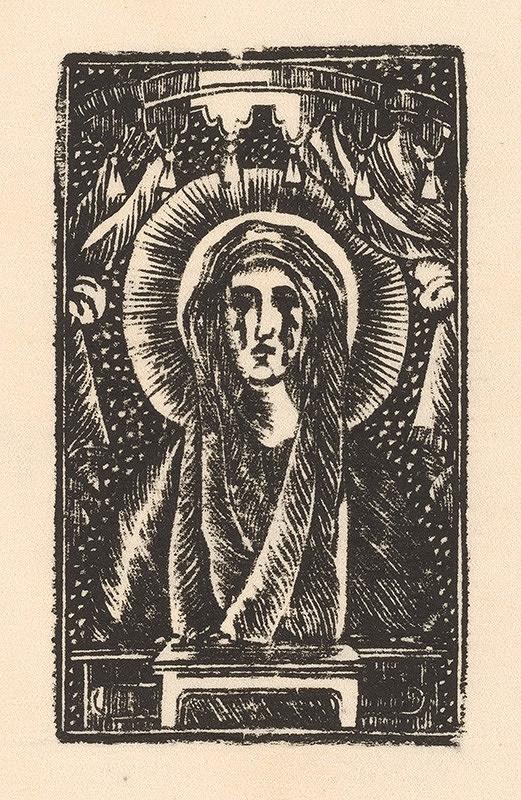 Slovenský grafik z 1. polovice 19. storočia - Panna Mária z Antola