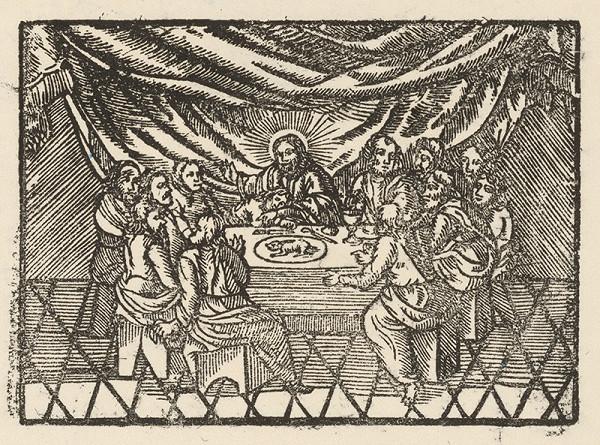 Moravský grafik zo začiatku 17. storočia – Posledná večera