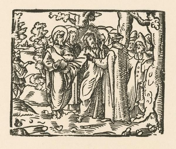 Nemecký grafik zo začiatku 17. storočia – Kristus a zákonníci