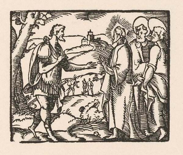 Nemecký grafik zo začiatku 17. storočia – Kristus a stotník