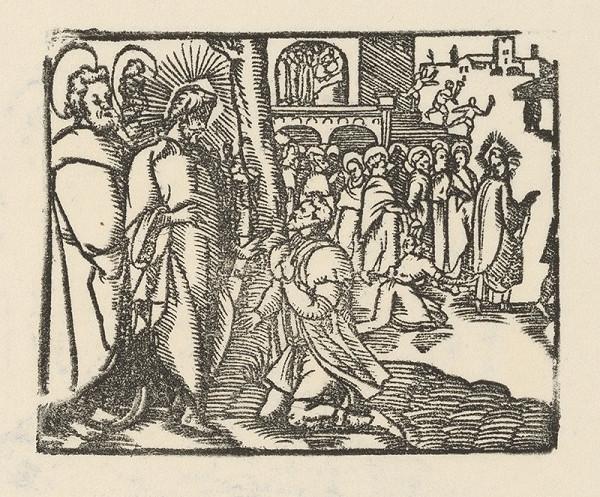 Nemecký grafik zo začiatku 17. storočia – Kristus a boháč