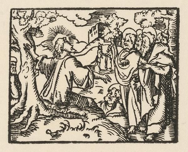 Nemecký grafik zo začiatku 17. storočia - Kristus na hore Olivetskej