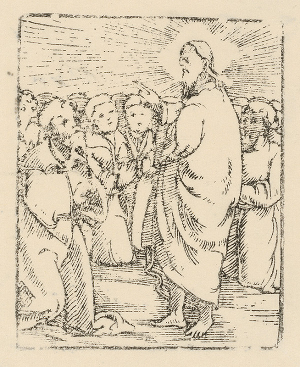Moravský grafik zo začiatku 17. storočia – Kristus káže zástupu