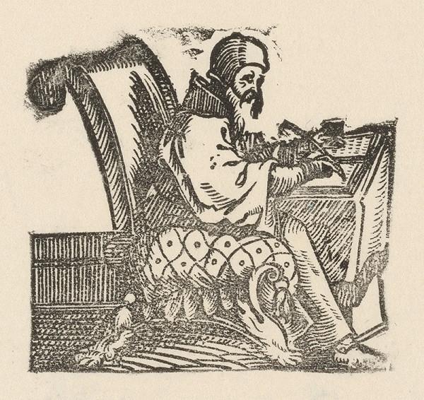 Nemecký grafik z 1. polovice 16. storočia - Evanjelista Lukáš