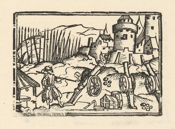 Nemecký grafik zo začiatku 17. storočia – Delá pred bránami mesta