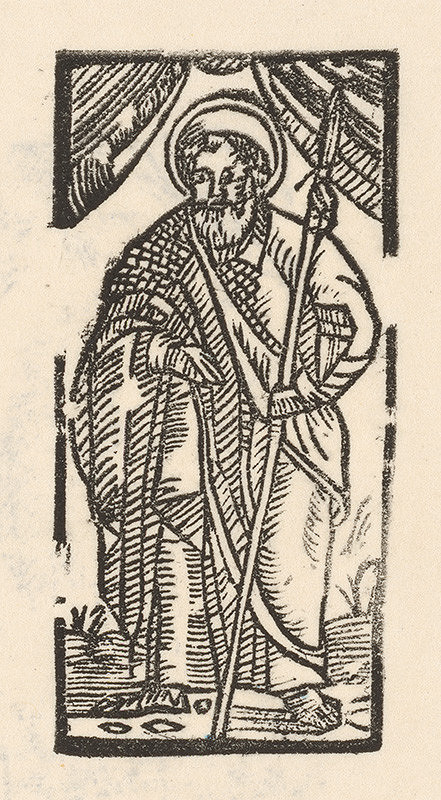 Moravský grafik z konca 16. storočia – Sv. Tomáš