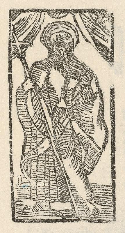 Moravský grafik z konca 16. storočia – Sv. Filip