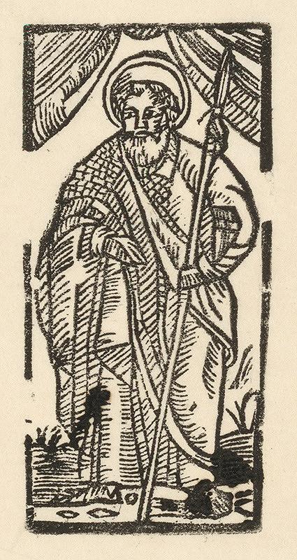 Moravský grafik z polovice 16. storočia – Sv. Tomáš