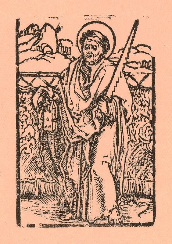 Nemecký grafik z 1. polovice 16. storočia - Svätý Šimon apoštol