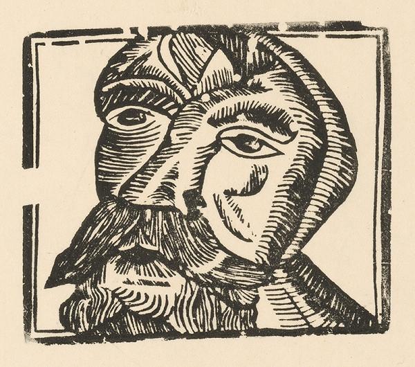 Slovenský grafik zo začiatku 19. storočia – Hlava bradatého muža