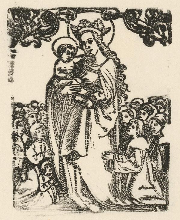 Nemecký grafik z 1. polovice 16. storočia - Madona so zástupom