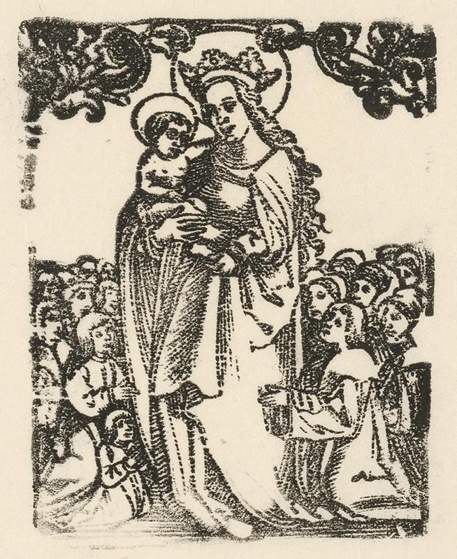 Nemecký grafik z 1. polovice 16. storočia – Madona so zástupom, pred 1544