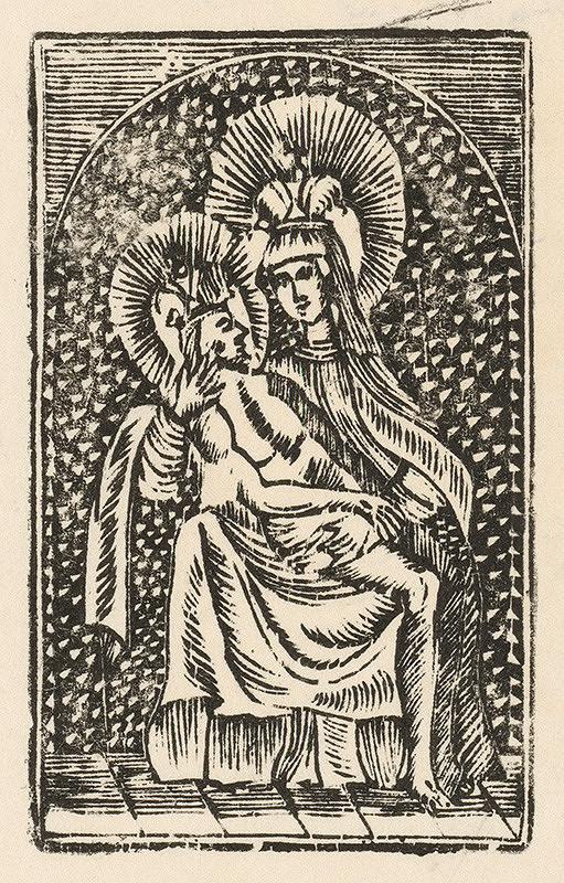 Slovenský grafik zo začiatku 19. storočia - Šaštínska Panna Mária. Pieta.