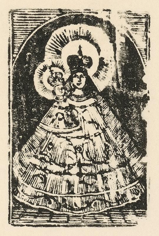 Slovenský grafik zo začiatku 19. storočia - Zázračná Panna Mária