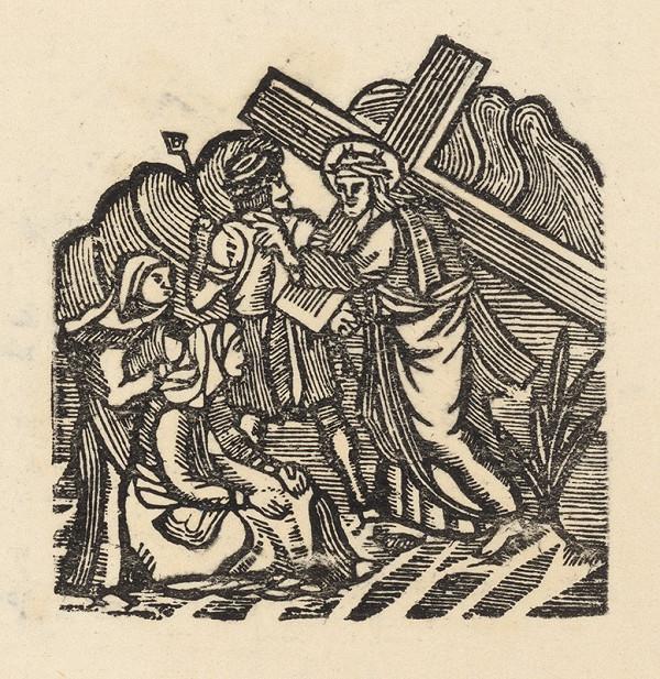 Moravský grafik zo začiatku 19. storočia - Kristus s krížom sa stretá s matkou