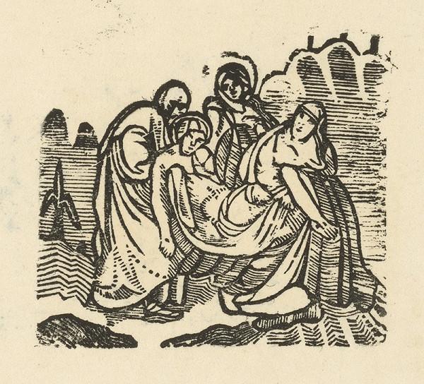 Moravský grafik zo začiatku 19. storočia - Ukladanie do hrobu