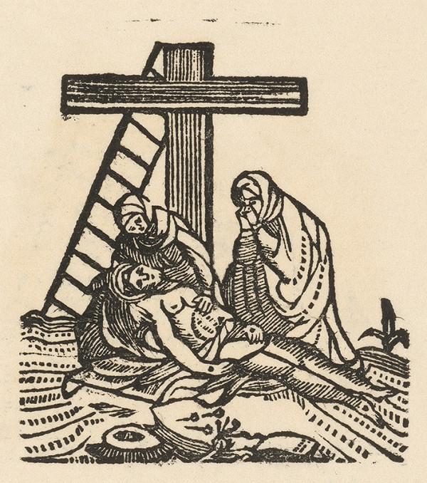 Moravský grafik zo začiatku 19. storočia - Oplakávanie
