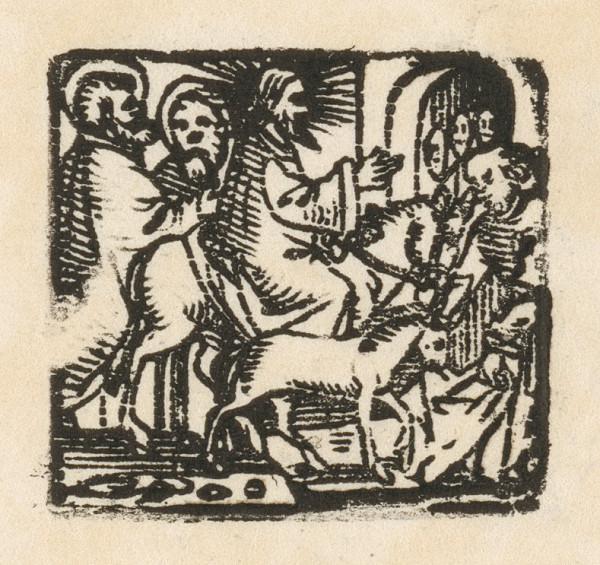 Nemecký grafik z polovice 16. storočia - Vjazd do Jeruzaléma
