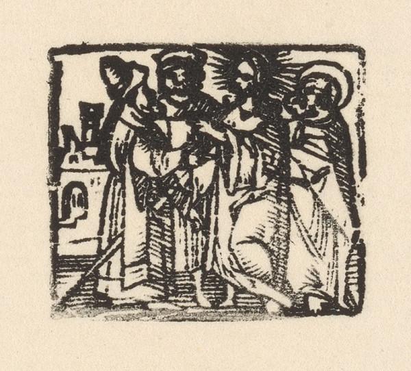 Nemecký grafik z 1. polovice 16. storočia - Kristus a zákonníci