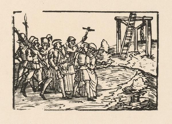 Nemecký grafik z 2. polovice 16. storočia - Odsúdenca vedú na popravisko