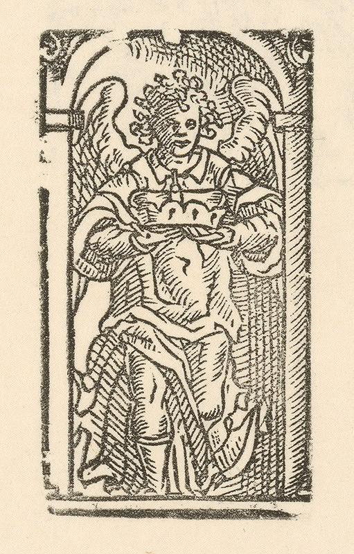 Moravský grafik zo začiatku 18. storočia - Anjel s korunou