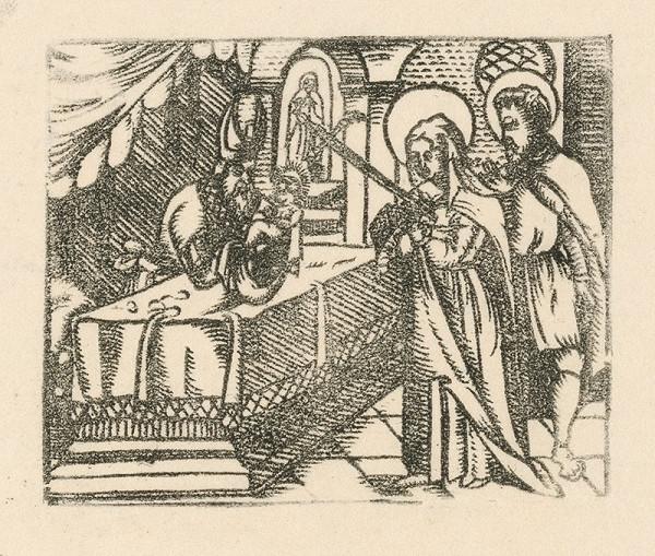 Nemecký grafik zo začiatku 17. storočia – Obetovanie Krista
