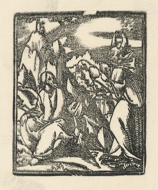 Moravský grafik zo začiatku 17. storočia – Pokušenie Krista