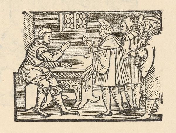 Nemecký grafik z polovice 16. storočia – Enšpígl kantorom