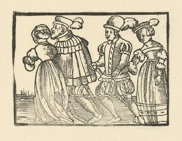 Nemecký grafik z 2. polovice 16. storočia – Kniežaťu privádzajú novú ženu