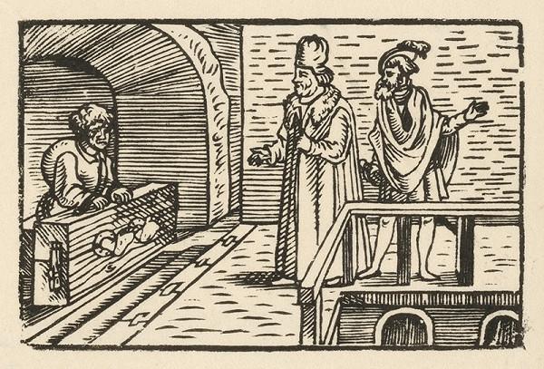 Nemecký grafik z 2. polovice 16. storočia – Ezop vo väzení