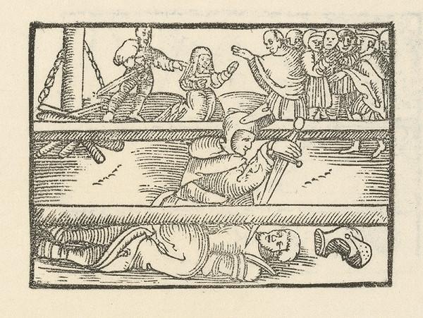 Moravský grafik zo začiatku 17. storočia – Súboj rytierov