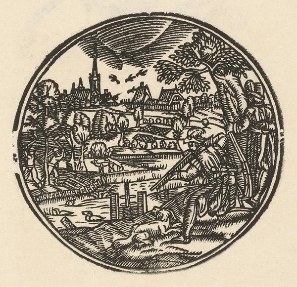 Nemecký grafik zo začiatku 17. storočia – Lov na kačice