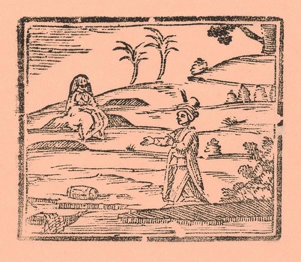 Moravský grafik z prelomu 18. - 19. storočia – Turek a žena