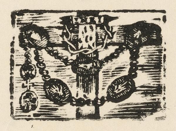 Moravský grafik z prelomu 18. - 19. storočia - Kríž s ružencom