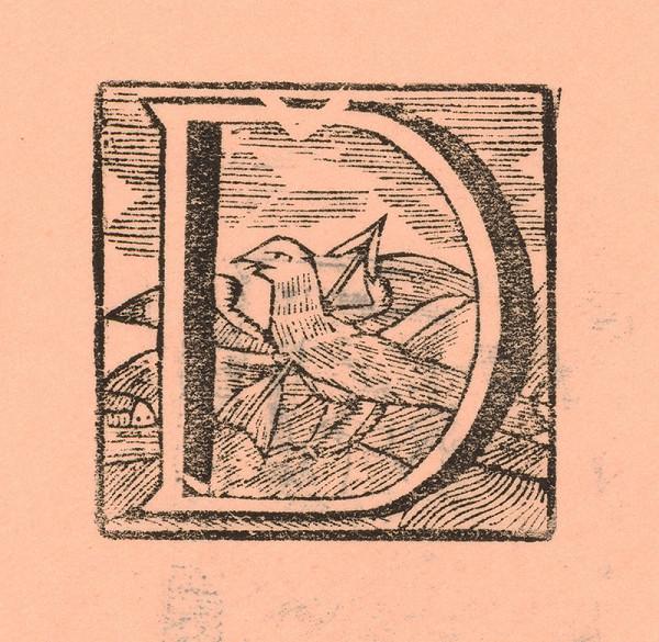 Moravský grafik zo začiatku 18. storočia – Iniciála Ď