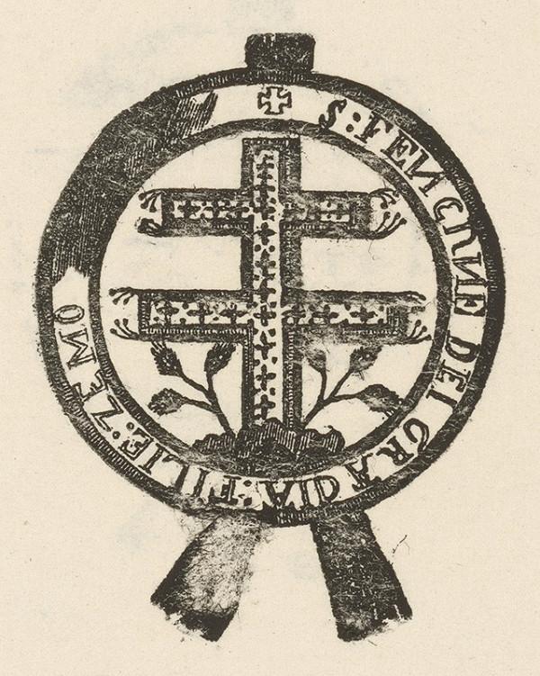 Slovenský grafik z prelomu 17. - 18. storočia - Kríž v kruhopise