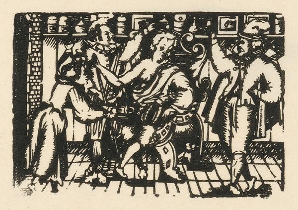 Moravský grafik z konca 16. storočia – Púšťanie žilou