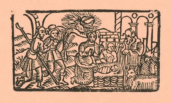 Moravský grafik z konca 18. storočia – Narodenie s pastiermi