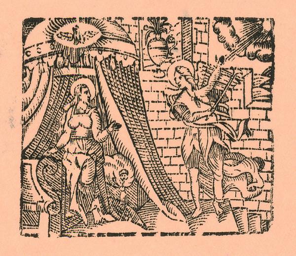 Moravský grafik z prelomu 16. - 17. storočia – Zvestovanie