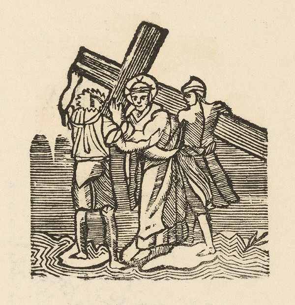 Moravský grafik zo začiatku 19. storočia - Kristus prijíma kríž