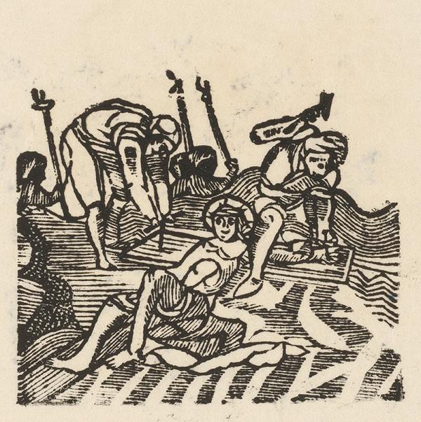 Moravský grafik zo začiatku 19. storočia - Pribíjanie Krista na kríž