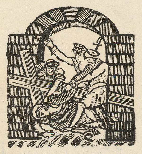 Moravský grafik zo začiatku 19. storočia - Pád Krista pod krížom