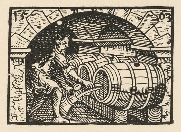Nemecký grafik z 2. polovice 16. storočia – Pivnica