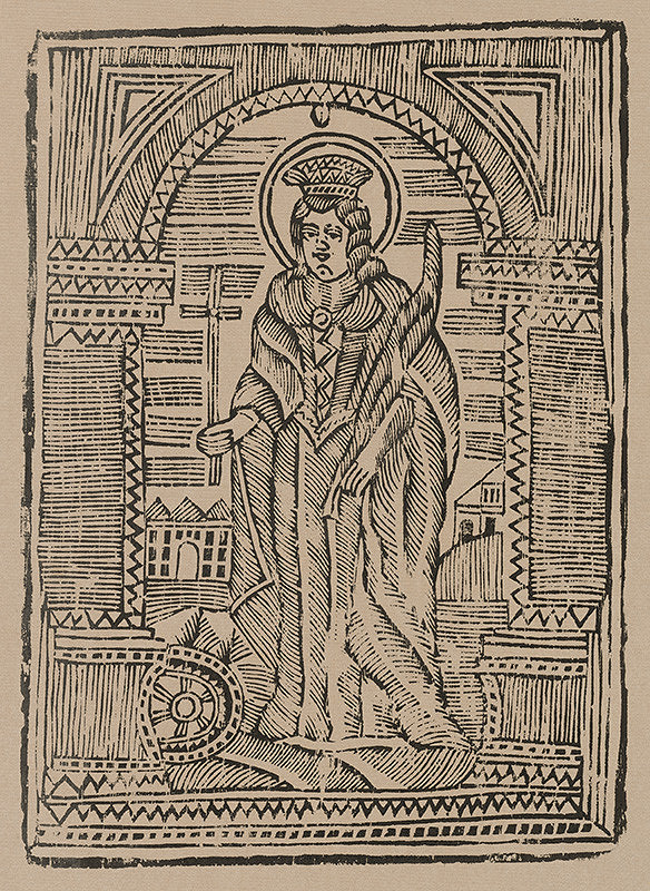 Slovenský grafik z prelomu 18. - 19. storočia – Svätá Katarína
