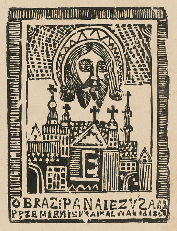 Poľský grafik z 1. polovice 19. storočia – Obraz Ježiša