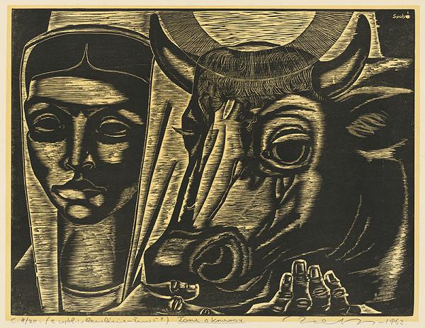Július Szabó - Žena s kravou