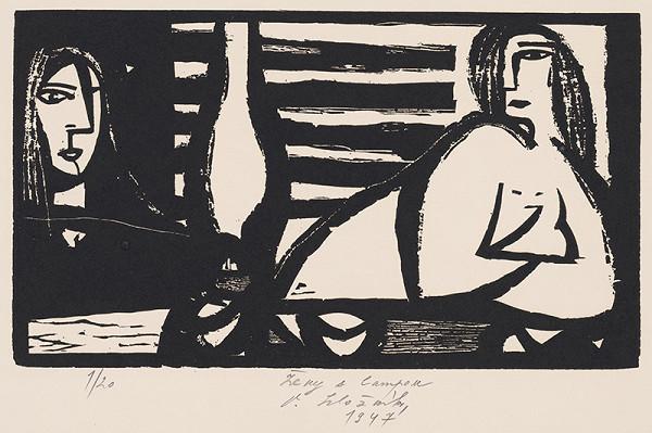 Vincent Hložník - Ženy s lampou